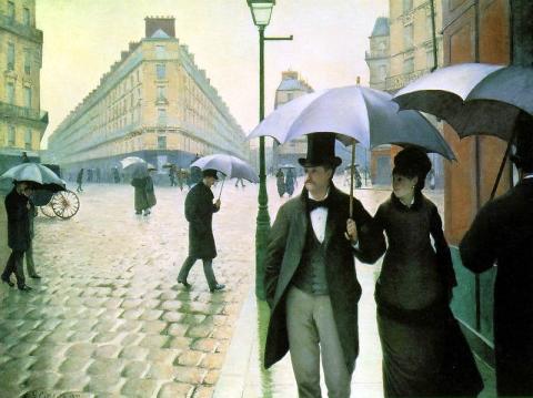 Gustave Caillebottes Regenbild