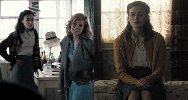 "Keira Knightleys senfgelber Cardigan in ""The Edge of Love"""