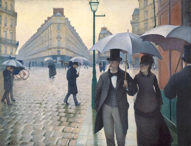 Schwarze Schirmchen in Paris