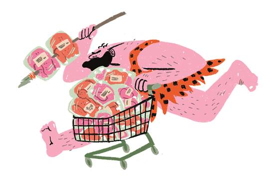 Jäger oder Sammler? Illustration von Lisa Tegtmeier.