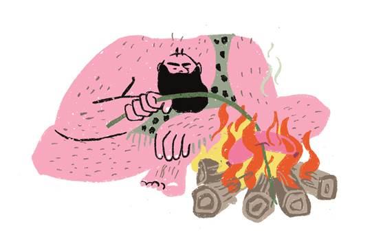 Ein Minimalist? Illustration von Lisa Tegtmeier.
